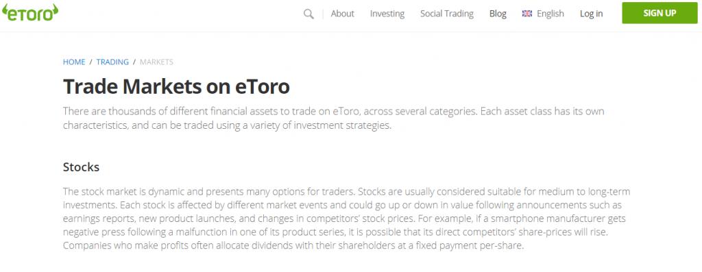 Review on eToro Broker reviews